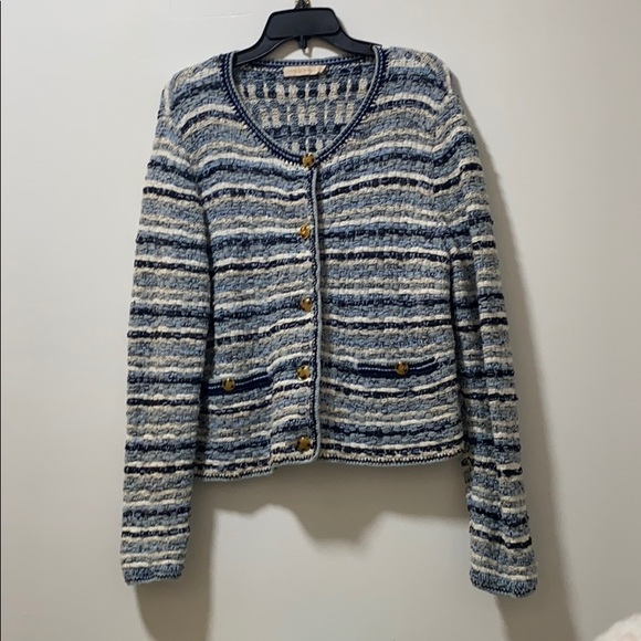 Tory Burch Button-detailed Tweed Sweater Cardigan